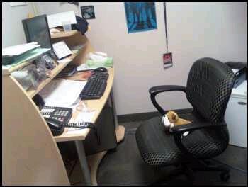 tucker in rustys office