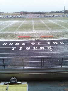 Tiger Field Friday night before the homecoming game