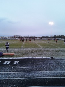 The Tigers warming up before their big homecoming game vs Hoven/Edmunds Central
